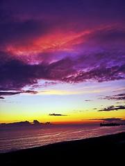 a brighton january sunset (samasaurus rex) Tags: ocean sunset sea sky sun nature beautiful skyline clouds pier seaside brighton brightonbeach brightonpier