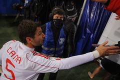 Lorik Cana (Adrijana.Z) Tags: norway soccer handsome player captain handshake fans win cana albania winners loose shqiptar lorik kosovar shqipe shqiponje