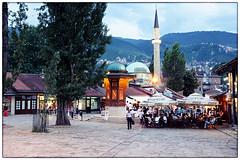 Bascarsija (mmilanovic) Tags: old fountain town ancient europe market sarajevo bosnia herzegovina ottoman bazaar oriental grad iconic fontana stari hercegovina bosna evropa bascarsija sebilj dayinsarajevo