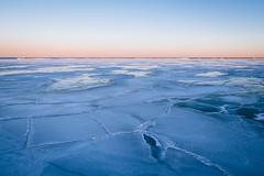 Frozen Lake Michigan at Veterans Park (Milwaukee, WI) (bradleysiefert) Tags: winter cold ice wisconsin outside twilight unitedstates freezing lakemichigan milwaukee frigid magichour