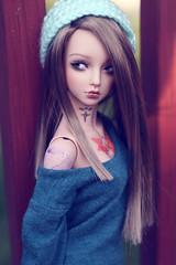 New Face Up! (miyukisetsu) Tags: light brown doll skin tan chloe crescent bjd aquarius ts abjd lbs aesthetics aquariusdoll miyukisetsu