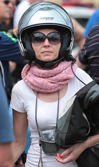 Motorcycle.... (151) (anjaschmidt1982) Tags: woman lady race eyes helmet gear racing gloves motorcycle biker protective rider visor faceshield