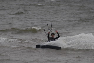 Kitesurfing with Ally