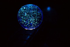 blue universe (Dat Asian) Tags: blue plant reflection glass sparkles ball star cool orb marble universe