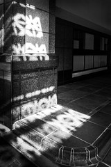 Hard(ly) Light (Doug Knisely) Tags: seattle street abstract nikon downtown shadows patterns entrance curb d600 hardlight 2818g