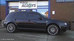 "VW Golf alloy wheels finished in Shadow Chrome by We Fix Alloys • <a style=""font-size:0.8em;"" href=""http://www.flickr.com/photos/75836697@N06/14285208989/"" target=""_blank"">View on Flickr</a>"