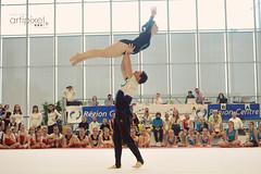 ARTI1864 (David COMPAIN) Tags: sol sport couple duo tours technique discipline lgance geste gymnastique ffg cohsion acrobatique regioncentre artipixel