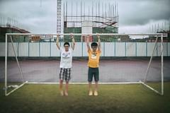 """操场上 (敗給考試) Tags: film 35mm vintage f14 sony ts a7 customs 毕业 tiltshift 兄弟 记忆 """"shanghai samyang 复古 college"""" 移轴 上海海关学院"""