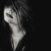La Crinière (Christine Lebrasseur) Tags: portrait people blackandwhite woman france art 6x6 canon hair hidden teenager fr onblack gironde 500x500 léane saintloubes allrightsreservedchristinelebrasseur