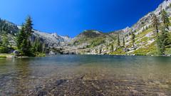Inviting Alpine Lake (LHelgeson) Tags: california mountain alpine backpacking backcountry alpinelake mountainlake trinityalps canyoncreek mountainsunset alpinesunset trinitymountains canyoncreeklake californiawilderness shastatrinitywilderness
