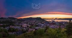 Corner Brook Sunsets... (Dru Kennedy) Tags: canon newfoundland photo pano cornerbrook drukennedy