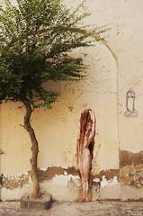 La Chevelure (ilda) Tags: italy streetart pasteup painting italia peinture installation napoli naples italie baudelaire lesfleursdumal pittura zilda carlosschwabe ilda