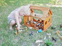 Sams stable 5 (wildflowertoys) Tags: woodentoys dollhousedolls toybarn bendydoll naturaltoys waldorftoys elvesandangels dollhousefamily toystable wildflowerinnocence