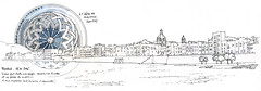 Trapani (gerard michel) Tags: italia sicilia trapani panorama sketch croquis rose gothique