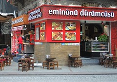 Turkey (Istanbul) Delicious Turkish dishes, kebab and kokorec (ustung) Tags: turkey istanbul kebab kokorec kokoretsi shop wrap durum outdoor street nikon