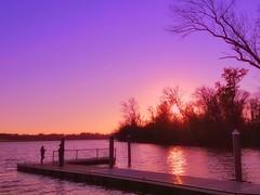 A Talk on the Dock (dianealdrich - Please read my updated profile) Tags: sunset beautiful landscape dock couple serene serenescene lovely settingsun sky