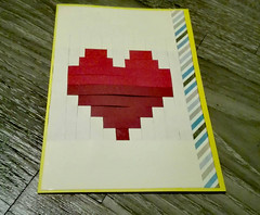 Greeting Card Woven Heart (NiRoGiftsandDeco) Tags: heart greeting card greetingcard woven paper craft crafting handmade awesome