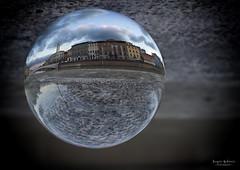 Lungarno (Sergio Eschini) Tags: sfera cristallo sphere crystal vetro glass riflesso reflection lungarno pisa tramonto sunset toscana tuscany river arno fiume