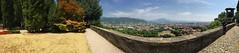 Pano - Rocca di Bergamo - Castle\Citadel of Bergamo (arwed.kubisch1) Tags: bergamo italia italy italien panorama pano alpi alps alpen citta bassa castle castello burg fort rocca architecture architektur trees bäume
