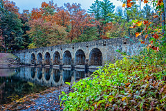 Bridge & Dam at Cumberland Mountains State Park (Dave Reasons) Tags: tennessee arches color craborchardstone crossville cumberlandmountains dam fall statepark trees