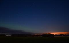 Stars, the Northern lights, two tractors and light pollution (Villikko) Tags: night evening ilta y stars northernlights revontulet thdet thtitaivas starrynight