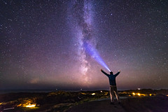 Calling out to the universe (Richard Larssen) Tags: richard larssen richardlarssen rogaland light norway norge norwegen nature night alpha a7ii astrophotography astro stars universe milky way milkyway led lenser scandinavia sony samyang samyang14mmf28
