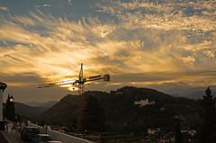 The crane (pacogranada) Tags: salidadelsol dawn granada espaa spain andalusia andalucia nubes amanecer nikon d610 sunset
