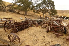 An assortment of old farm and ranching machinery and equipment (openspacer) Tags: farmmachinery