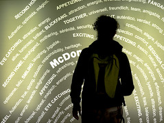 MM00A-1610 PIASPA MCD AME D750 (Marsel Minga) Tags: amerigomancini mcdonalds ad sign insegna luminosa green words pubblicit sagoma silhouette advertizing rome roma