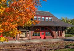 NO MORE TRAINS (jlucierphoto) Tags: architecture building north easton massachusetts shovel factories outdoor train station historic fall autumn tracks