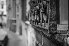 window railing, walkway to canal, San Toma, Venice, Italy, Nikon D40, nikon nikkor 55mm f-3.5, 10.24.16 (steve aimone) Tags: railing walkway santoma venice italy nikond40 nikonnikkor55mmf35 nikonprime primelens blackandwhite monochrome monochromatic architecture city cityscape