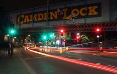 Camden bridge (Westhamwolf) Tags: camden town bridge london city night light trails dark england lock
