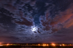 Early AM Skies (inlightful) Tags: stars sky astronomy astrophotgraphy clouds morning dawn moon nature night nightsky cloudy weather pink purple rural southwest newmexico socorrocounty