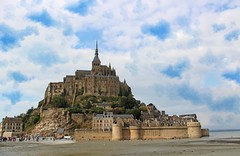 Mont St Michel, France (big_jeff_leo) Tags: stmichaelsmount montstmichel france castle rock coast abbey monk stone walls towers medieval normandy history heritage ancient old column gothic tidal estuary unesco island