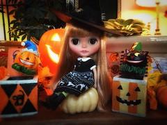 The good witch (queenbee2zz) Tags: dressingblythedress octobersgirl calendargirlphotochallenge uma bl03 rrcustom blythe takara