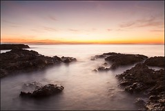 Mist & Rocks (MatthewsCamera) Tags: sunset lightroom manfrotto coin filters lseries canon 5dmkii 5d ogmorebysea wales welsh landscape british rocks longexposure slowshutter rockpools atlantic bristolchannel