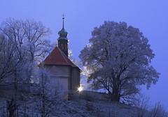 Church with beautiful tree (Mayer Martin) Tags: morning fototrip fotoday church tree winter snow firstlight