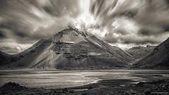 Cloudy mountain (goforphoto) Tags: muntain cloud nature drama bw sepia water