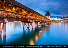Switzerland - Lucerne - Luzern - Historical Altstadt - Old Town with Kapellbrcke at Dusk - Twilight - Blue Hour ( Lucie Debelkova / www.luciedebelkova.com) Tags: lucerne luzern switzerland swiss schweiz suisse svizzera svizra swissconfederation confderatiohelvetica ch che europe centraleurope world exploration trip vacation holiday place destination location journey tour touring tourism tourist travel traveling visit architecture arquitectura architettura architektura building buildingexterior build town ville city cit urban urbain artistic historical street structure art kunst arte monument design casa haus maison business estate site urbanscene scene cities cityscape cityscapes house houses landmark landmarks outdoor outdoors outside urbanlandscape urbanlandscapes wwwluciedebelkovacom luciedebelkova