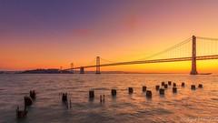 Bay Bridge Sunrise (deepaksviewfinder) Tags: ifttt 500px bay bridge sunrise san francisco sf sfo pier 14 morning hdr golden hour