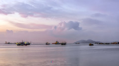 Clouds (Ah Wei (Lung Wei)) Tags: penangbridge penang penangisland georgetown pulaupinang malaysia georgetownpenang my sunrises sunset sunsets longexposure landscape shore clouds nikon50mmf18g 50mmf18g nikond750 nikon ahweilungwei fullframe fx limjetty limjettypenang reflection inverted sunrise