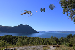 What!?! (Orry_2000) Tags: onlyinryfylke norge norway rogaland stavanger ombo star wars photoshop cc 2017 canon png tie fighter xwing death real life
