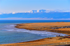 Sayram Lake (Jennifer ) Tags:       d4s   snow  xingjiang nikon 1 landscape photography scape next line geography nature lake f other          nikond4s landsacpe china navy blue moutain