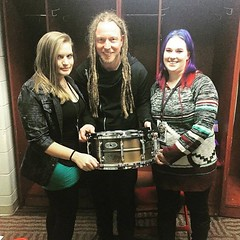 #Repost @bkerchofficial: Thank you so much Amanda for purchasing the signature snare package. Check out www.barrykerchdrum.com for more details. #shinedown #rockandroll #pearldrums #boom #tourlife #barrykerch (ShinedownsNation) Tags: shinedown nation shinedowns zach myers brent smith eric bass barry kerch