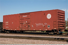 BNSF712732GB_LincolnNE_190506 (Catcliffe Demon) Tags: bnsf railways usa boxcar atsf santafe wagonsontheweb wotw freightcars acf americancarfoundry burlingtonnorthernsantafe atchisontopekasantafe bx162 nebraska usatrip5may2006