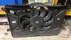 IMG_3347 (john.and.kath) Tags: jrd 1965 chevrolet impala engine conversion swap ls ls2 l76 4l65e 60l thermo radiator cooling fan ford fg falcon single