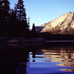 Tenaya Lake - Triptych (Nicolas) Tags: 400iso america analog analogique bleu blue bronica california californie ciel color couleur film lac lake nationalpark nicolasthomas pellicule portra sky tenaya usa yosemite