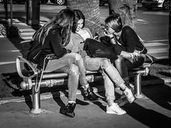 Copines (totofffff) Tags: cannes croisette france french riviera street alpes maritimes mditerrane noir blanc black white festival film olympus om d e m1 expo droite