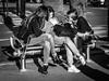 Copines (totofffff) Tags: cannes croisette france french riviera street alpes maritimes méditerranée noir blanc black white festival film olympus om d e m1 expo droite