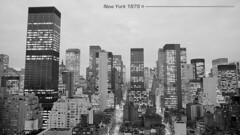 Midtown Manhattan, New York / January 10, 1975 (cobravictor) Tags: midtownmanhattan newyorkcity skyscrapers skyline illumination 70s 1975 20 century evening landscape lights beautiful stars bigapple old ny view pamoram